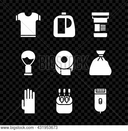 Set T-shirt, Bottles For Cleaning Agent, Medicine Bottle, Rubber Gloves, Cotton Swab Ears, Electrica