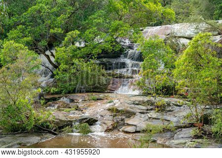 Top Section Of Somersby Falls Near Gosford On The Nsw Central Coast