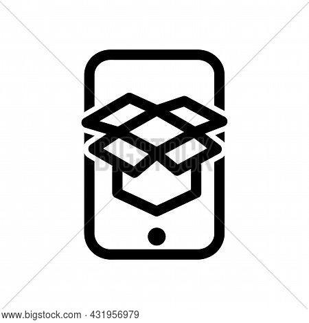 Ar App Line Icon. Ar App Isolated Simple Vector Icon