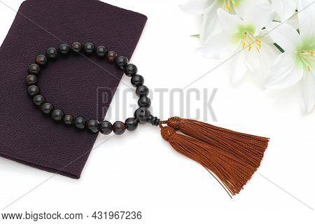 Buddhist Rosary Called Juzu. Used For Praying