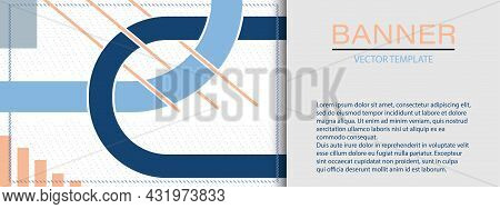 Abstract Banner Layout, Cover Layout, Or Title Page. Flat Style