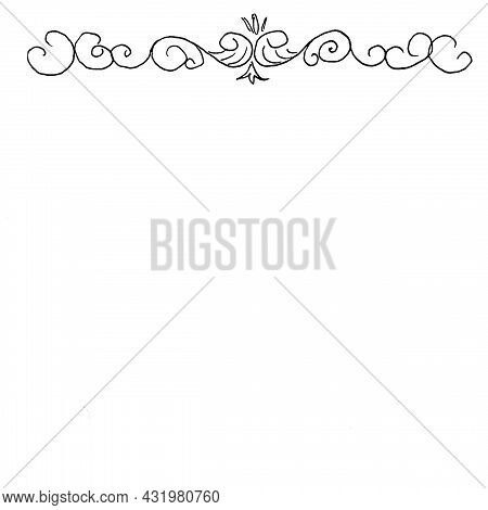 Pattern On The Title,black Handle A4 Format Candelabra