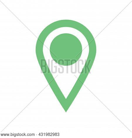 Location Icon For Map, Pin Marker Pointer For Mark Point To Gps. Logo Emblem For Delivery Shipping C