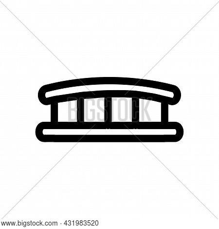 Bridge Vector Line Icon. Bridge Linear Outline Icon