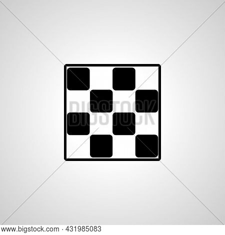 Checkers Simple Icon. Checkers Or Chess Vector Icon