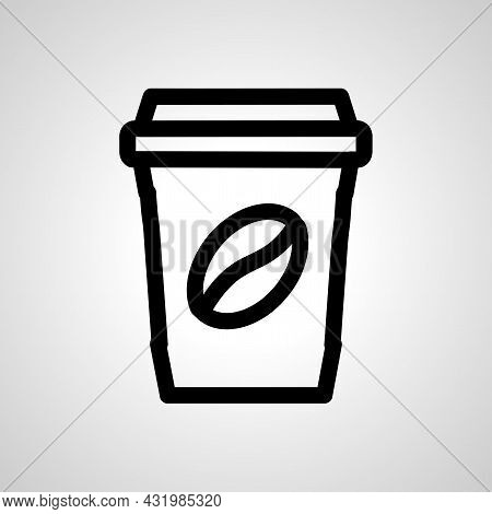 Coffee Cup Line Icon. Disposable Cup Vector Icon. Take Away Coffee Cup Icon