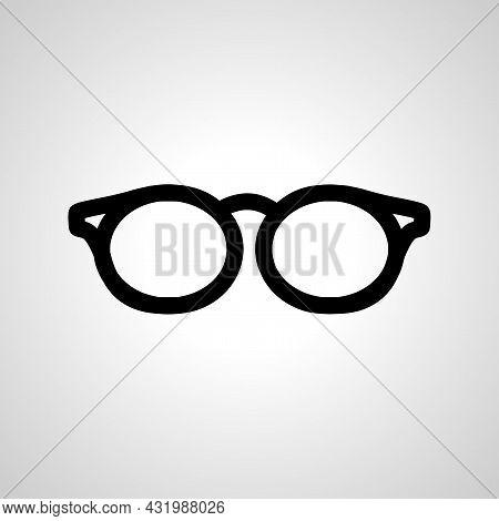 Glasses Icon. Eye Glasses Vector Icon. Glasses Simple Line Icon