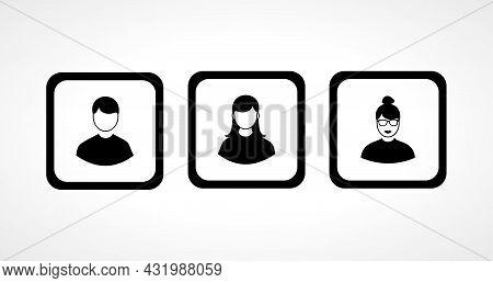 User Icon Set. Avatar Set, Man Woman Avatar