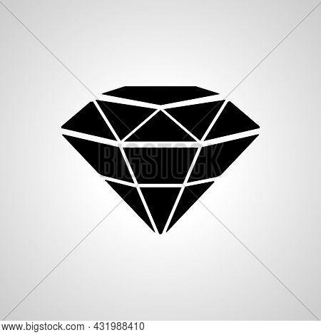 Diamond Simple Icon. Diamond Isolated Vector Icon