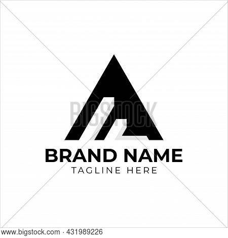 Letter Af/fa Triangle Logo Design Template Vector