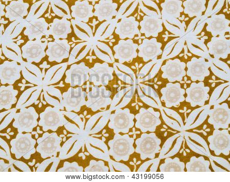 Floral brown batik pattern texture as background poster