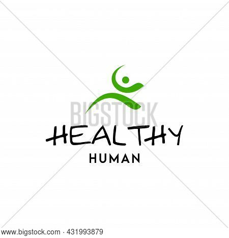 A Natural And Clean Logo About Healthy And Active Human Beings. Eps 10, Vector.