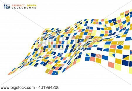 Abstract Geometric Space Line Pattern Style Artwork Template. Cover Style For Head Cover Background.
