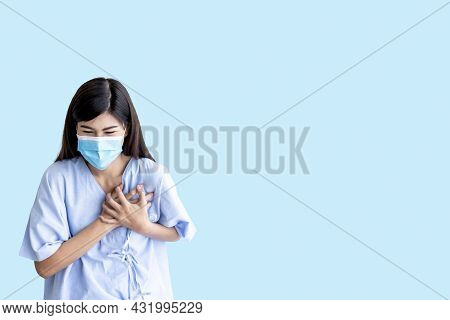 Asian Attractive  Woman Patient Is 26 Year Old, Are Suffering From Angina Due To Heart Disease, On B