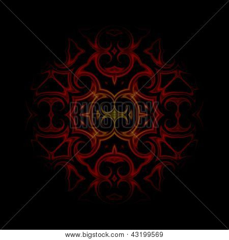 vintage abstract background dark red oriental ornament kaleidoscope poster