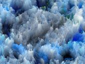 Backdrop of colorful fractal turbulence on the subject of fantasy dreams creativity imagination and art poster