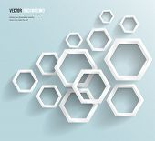 Vector abstract background Hexagon. Web Design. This is file of EPS10 format. poster