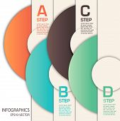 interesting infographics template using circles and shadow poster