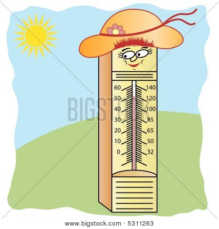 Thermometer Cartoon Character
