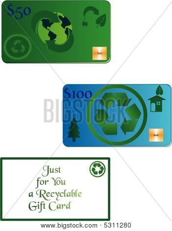 The Gift Card Of Recycling.. Gift Cards Of The Future..