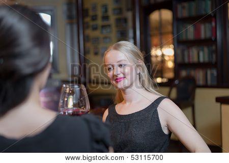 Beautiful Woman Enjoying A Night Out With Friends