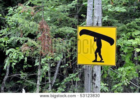 Canoe Sign.