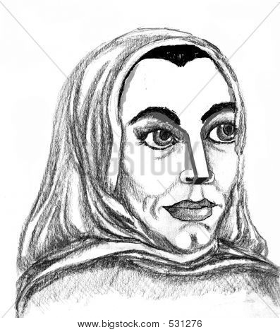 A Rendering Of An Eastern Woman ...
