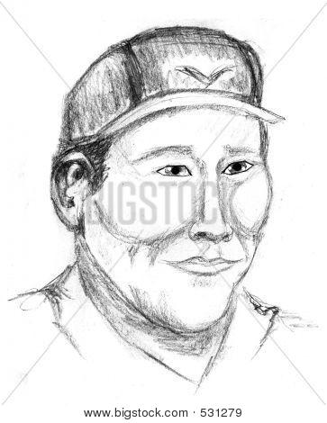 An Illustration Of An Asian Man