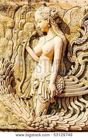 Kinnaree statue