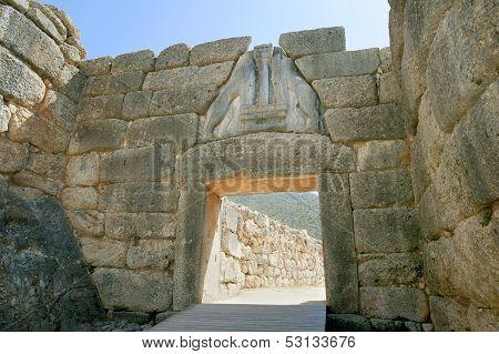 Liongates In Ancient Mycenae