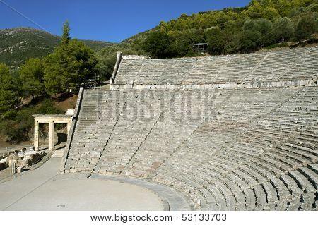 Epidaurus, Ancient Theater In Greece
