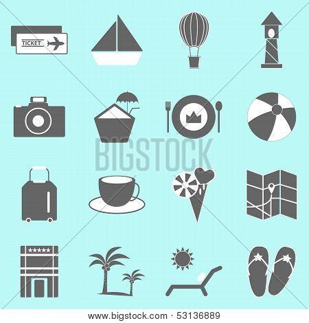 Holiday Icons On Light Background