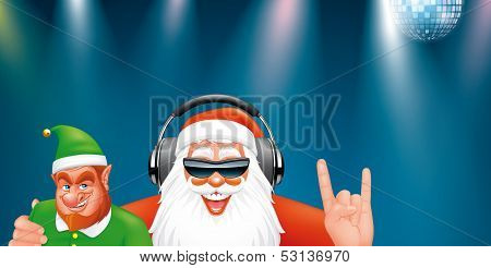 Santa Dj And Elf