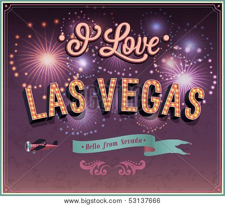 Greeting Card From Las Vegas - Nevada.