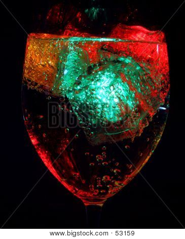 Colored Glow In The Glass