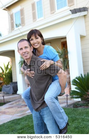 Couple At Home In Love
