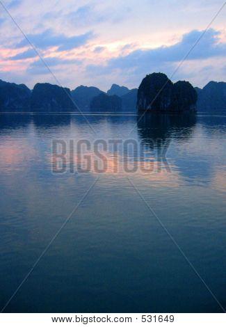 Halong Bay, Vietnam At Dusk