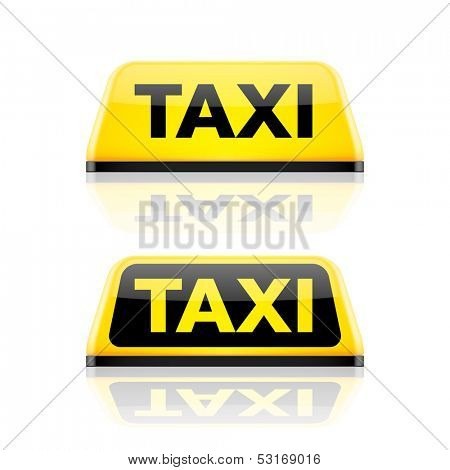 Taxi car roof sign. Vector.