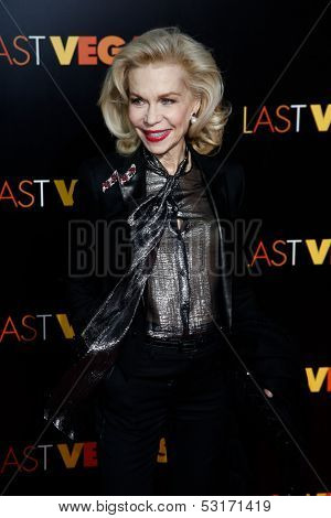 NEW YORK- OCT 29: Socialite Lynn Wyatt attends the premiere of 'Last Vegas' at the Ziegfeld Theatre on October 29, 2013 in New York City.
