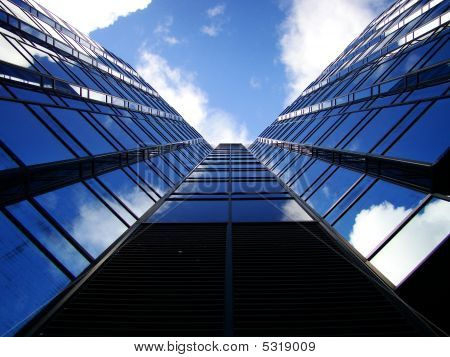 Downtown Corporate Glass Building