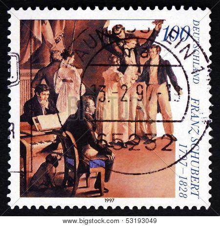 Postage Stamp Germany 1997 Franz Peter Schubert, Austrian Compos