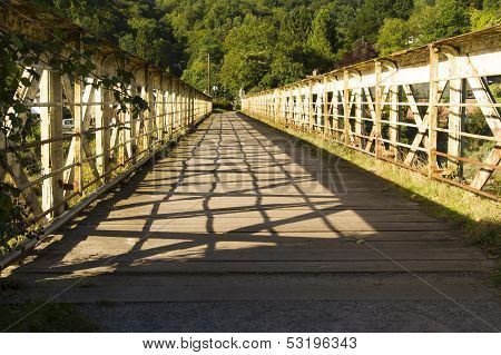 Footbridge Once A Railway Bridge - The Wire Bridge At Tintern.