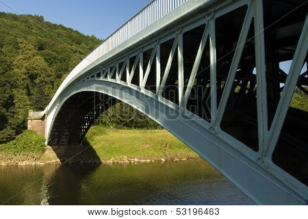 Bigsweir Bridge, A Single Span Iron Bridge Over The River Wye And The Border Between England And Wal