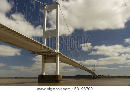 The Severn Bridge, Suspension Bridge Connecting Wales With England.