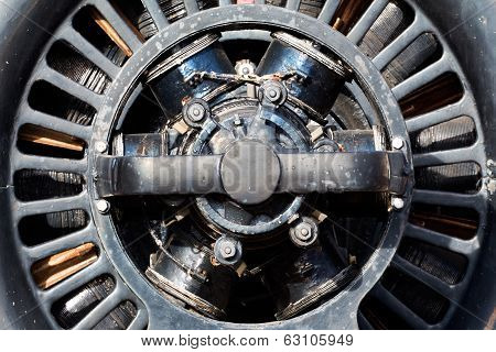 Old Electric Motor In The Sunlight