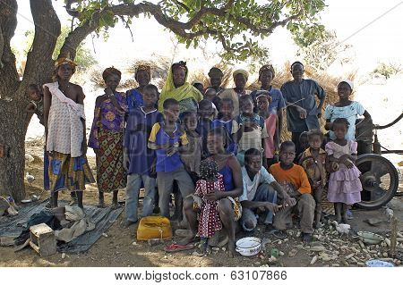 Group Of African Villagers
