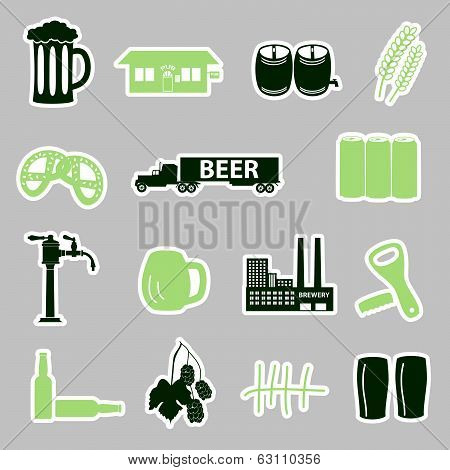 beer stickers set eps10