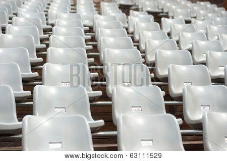 Row Of Grey Seats In Treater.