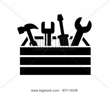 toolbox with tools icon