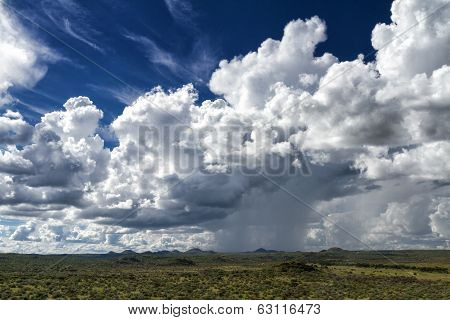 Rain Clouds Over The Namibian Savanna